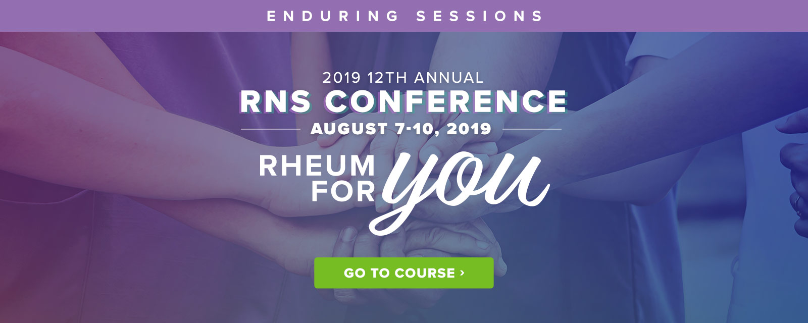 2019 RNS Conference - Enduring Sessions