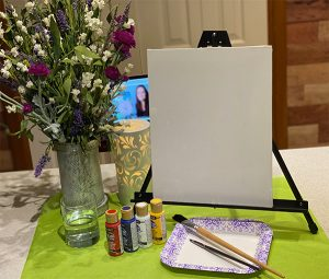 Canvas and paint set